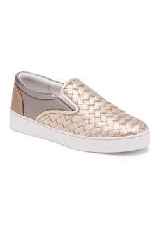 Bottega Veneta Metallic Weave Skate Sneakers