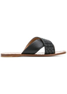 Bottega Veneta nero Intrecciato nappa ravello sandal