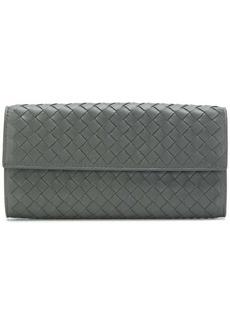 Bottega Veneta new light grey Intrecciato nappa continental wallet