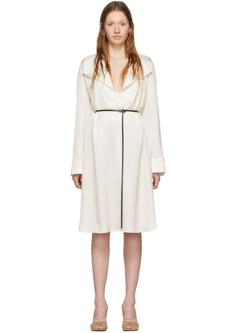 Bottega Veneta Off-White Silk Belt Dress