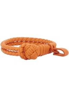 Bottega Veneta Orange Slim Double Intrecciato Bracelet