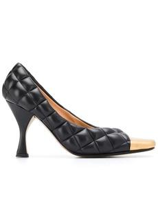 Bottega Veneta padded leather pumps