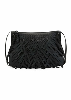 Bottega Veneta Palio Fringe Intrecciato Shoulder Bag