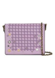 Bottega Veneta parme lilac Intrecciato palio chain wallet