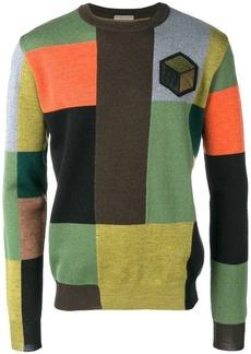 Bottega Veneta patchwork colour block jumper