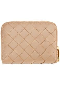 Bottega Veneta Pink Mini Intrecciato Continental Wallet