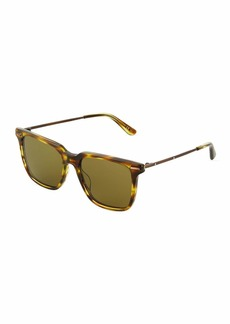 Bottega Veneta Plastic/Metal Square Sunglasses