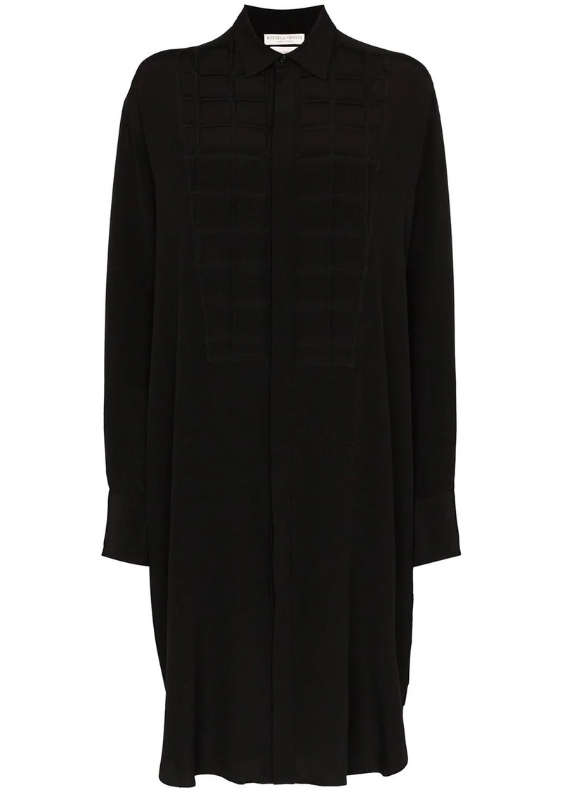 Bottega Veneta quilted bib silk shirt dress