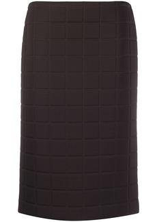 Bottega Veneta quilted straight skirt