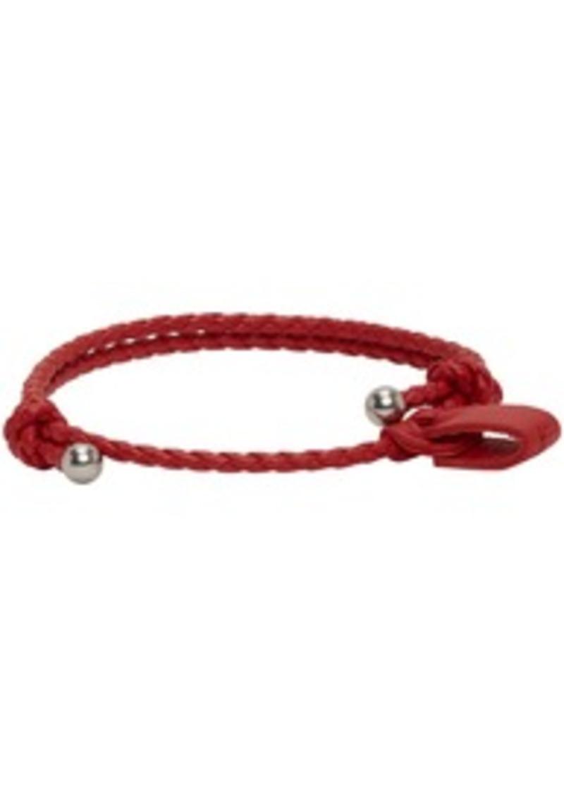 Bottega Veneta Red Intrecciato Bracelet