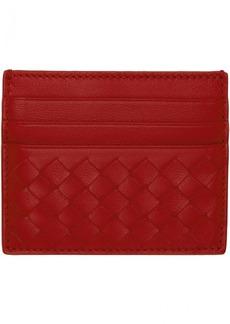Bottega Veneta Red Intrecciato Card Holder