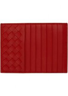 Bottega Veneta Red Intrecciato Multi Card Holder