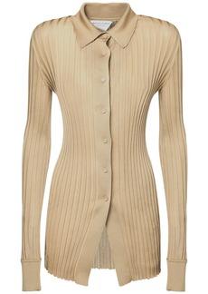 Bottega Veneta Ribbed Lightweight Silk Shirt