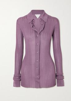 Bottega Veneta Ribbed Silk Shirt