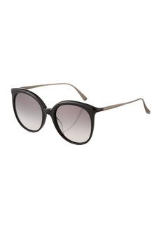 Bottega Veneta Round Plastic Sunglasses