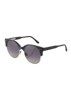 Bottega Veneta Round Plastic/Metal Sunglasses