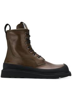 Bottega Veneta rubberised trim ankle boots
