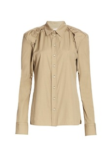 Bottega Veneta Ruched Shoulder Shirt