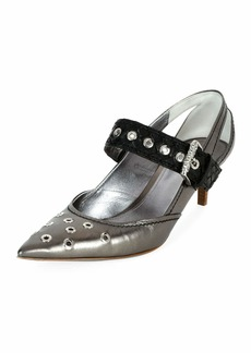 Bottega Veneta Runway Mary Jane Grommet Pumps