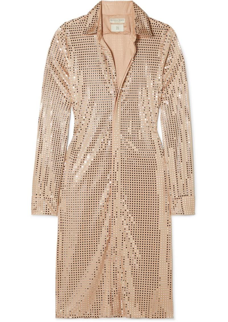 Bottega Veneta Sequin-embellished Satin-jersey Midi Dress