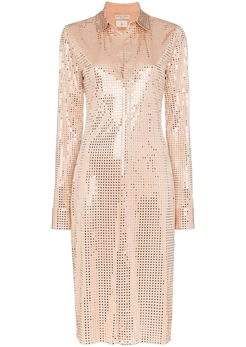 Bottega Veneta sequinned shirt dress