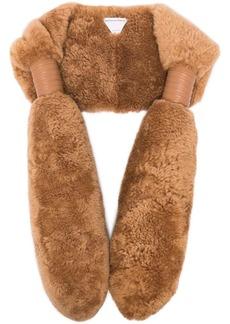Bottega Veneta shearling teddy scarf