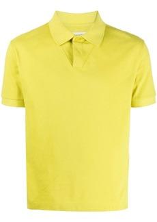 Bottega Veneta short-sleeved cotton polo shirt