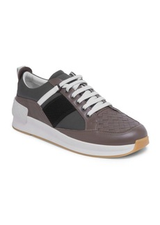 Bottega Veneta Side Stripe Leather Low-Top Sneakers