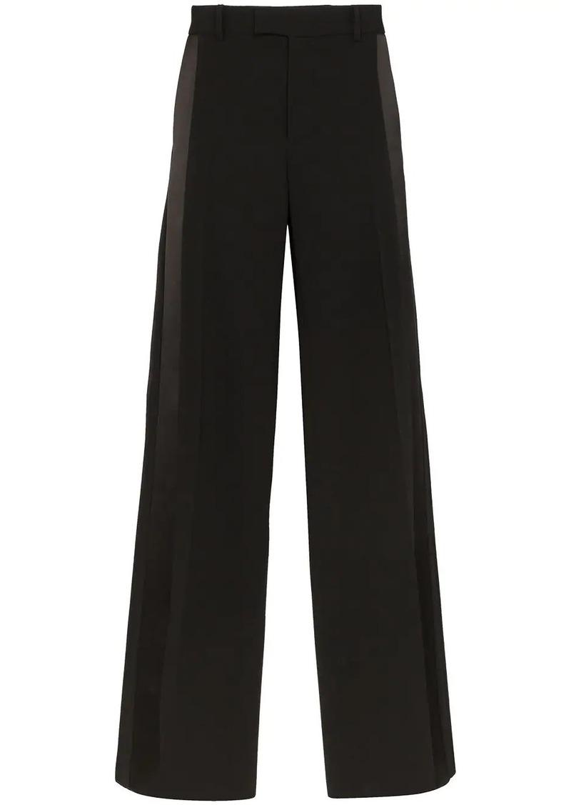 Bottega Veneta side stripe wide-leg trousers