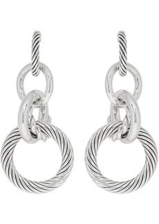 Bottega Veneta Silver Multi Hoop Earrings