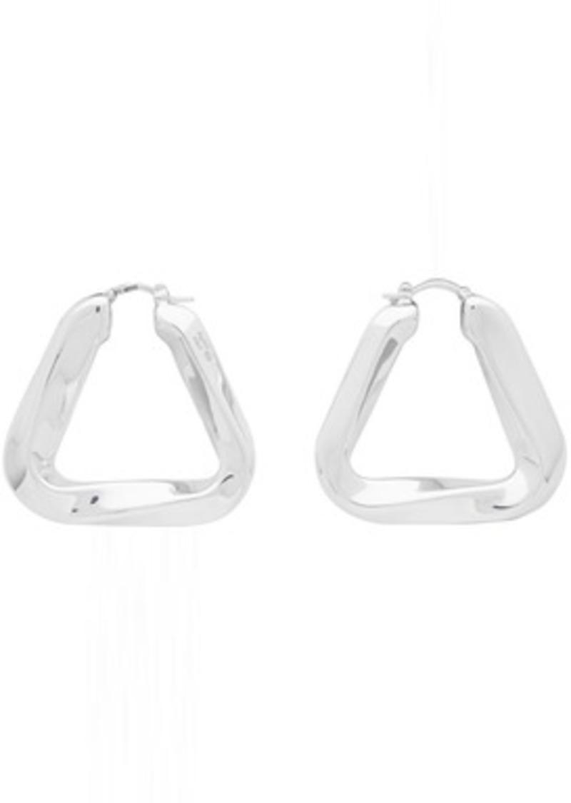 Bottega Veneta Silver Triangle Earrings