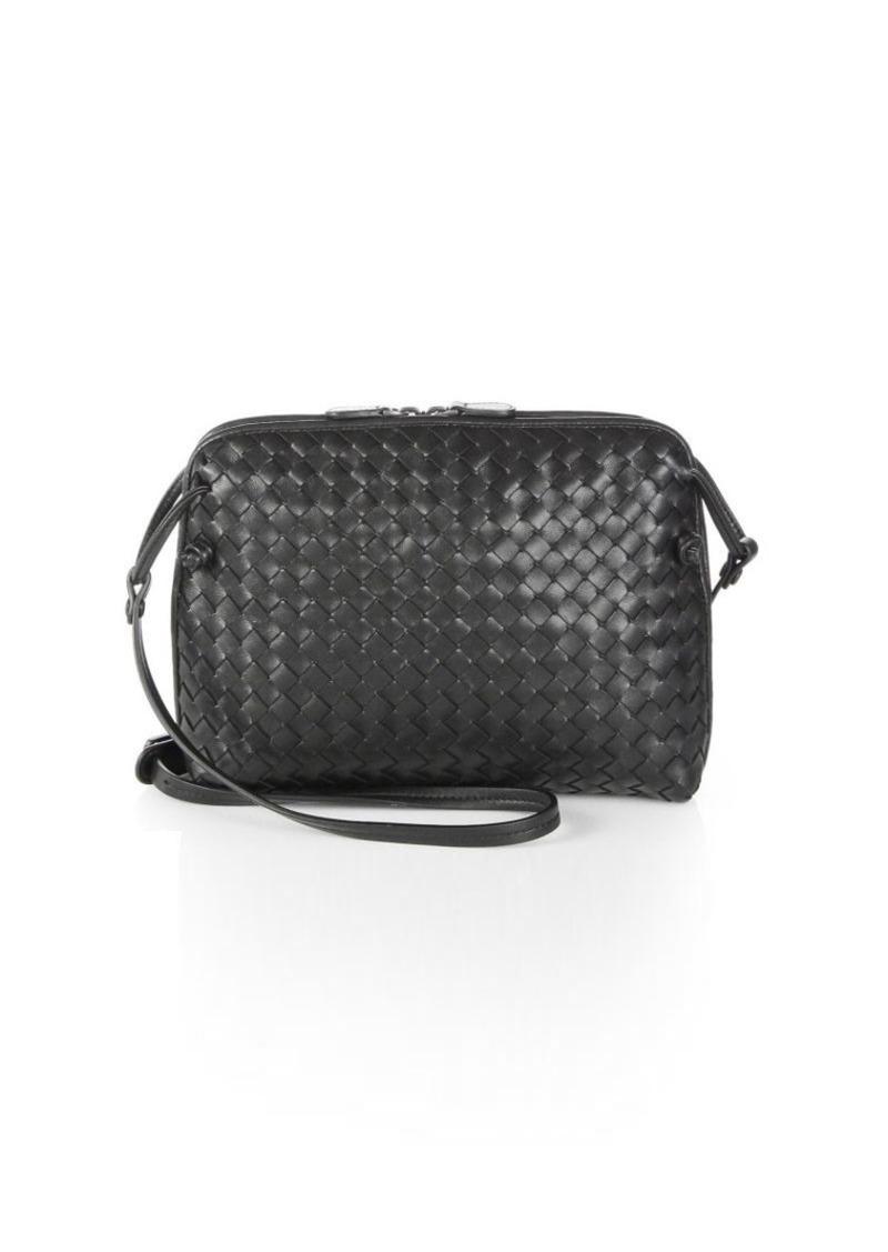 6fc2b3adcb Bottega Veneta Small Pillow Intrecciato Leather Crossbody Bag