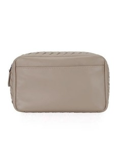 Bottega Veneta Small Zip Top Leather Cosmetic Pouch