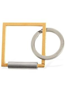 Bottega Veneta Square Metal Key-holder