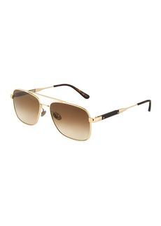 Bottega Veneta Square Metal Sunglasses