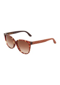 Bottega Veneta Square Plastic Sunglasses