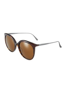 Bottega Veneta Square Plastic/Metal Sunglasses