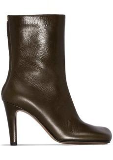 Bottega Veneta square-toe ankle boots