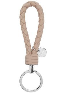 Bottega Veneta SSENSE Exclusive Beige Intrecciato Keychain