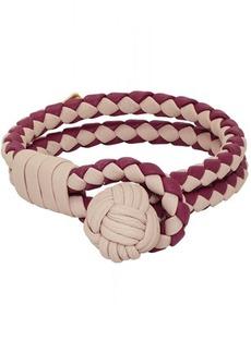 Bottega Veneta SSENSE Exclusive Red & Beige Intrecciato Double Bracelet