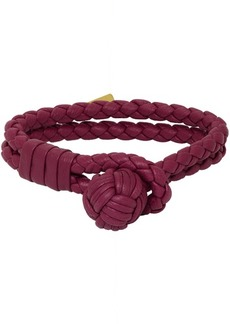 Bottega Veneta SSENSE Exclusive Red Intrecciato Bracelet