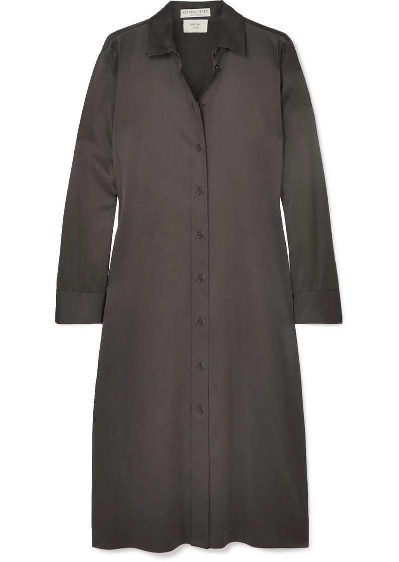 Bottega Veneta Stretch-silk Satin Shirt Dress
