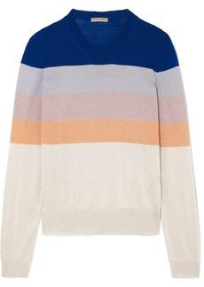 Bottega Veneta Striped Metallic Knitted Sweater