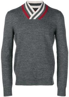 Bottega Veneta striped v-neck jumper
