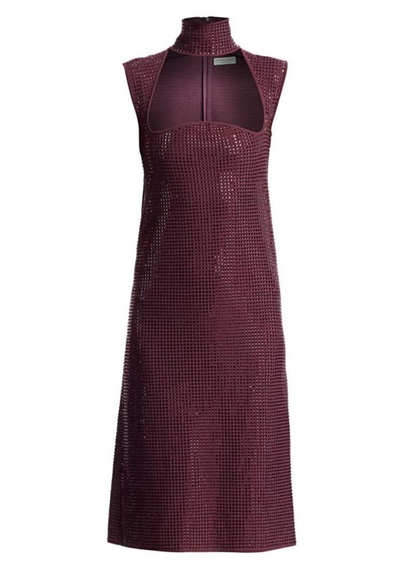 Bottega Veneta Studded Turtleneck A-Line Dress