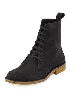 Bottega Veneta Suede Lace-Up Boot