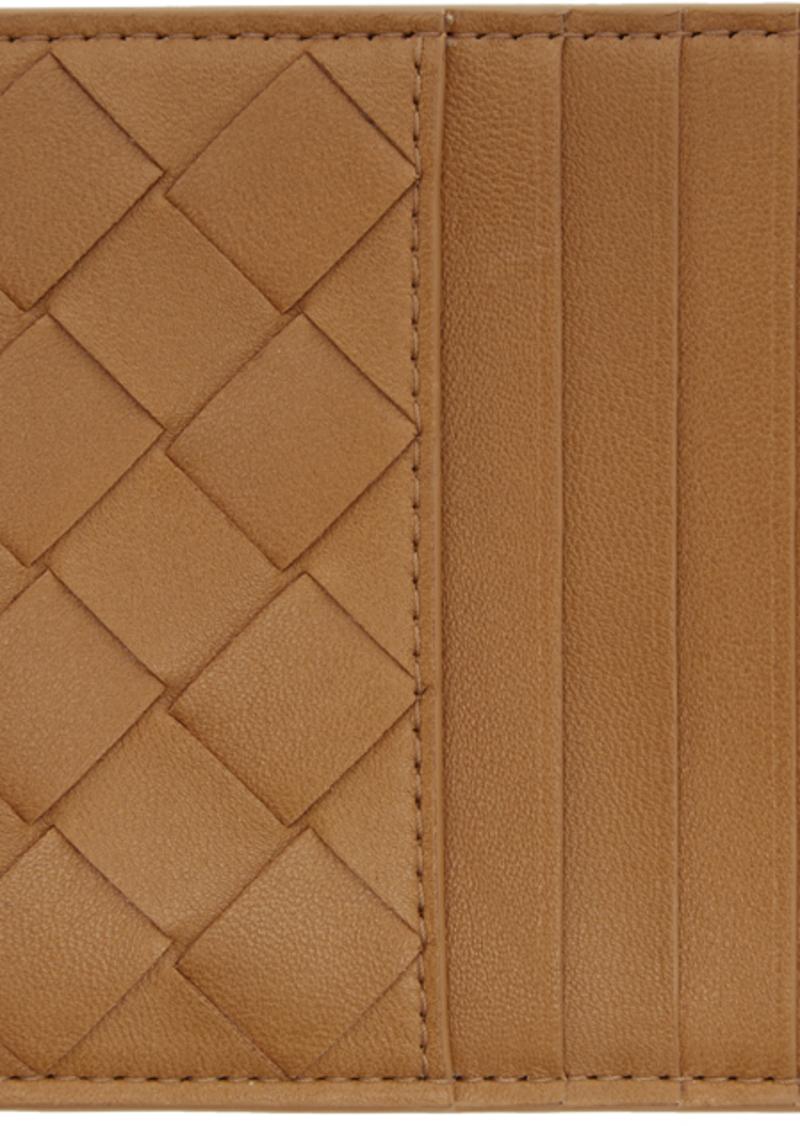 Bottega Veneta Tan Intrecciato Multi Card Holder