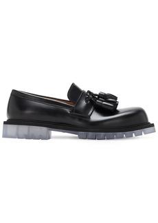 Bottega Veneta Tasseled Brushed Leather Loafers