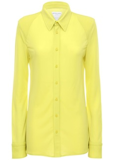 Bottega Veneta Tech Crepe Jersey Shirt