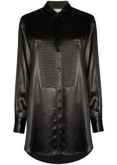 Bottega Veneta textured bib-panel shirt